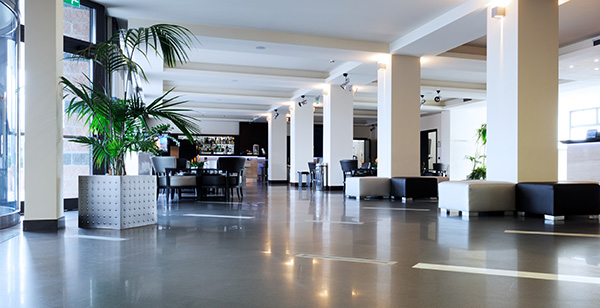 hall de entrada de hotel