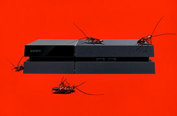 Baratas infestam PS4